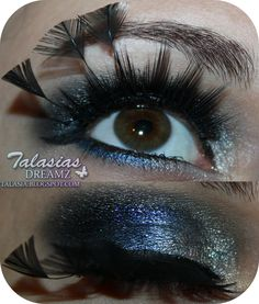 Silver Blue Eye Make Up - Datum: 31.12.2011  http://talasia.blogspot.de/2012/01/silvester-make-up-2011-mit-kkcenterhk.html