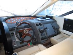Board of the Fairline Squadron 58 Yacht.