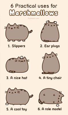 Pusheen The Cat & Marshmallows Art