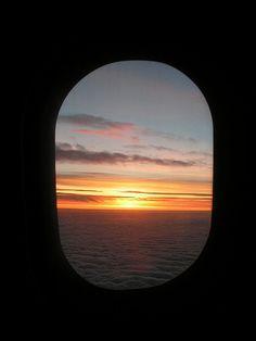 Airplane Window As Frame by Lanamaniac, via Flickr