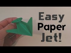 Paper Fighter Jet! - YouTube