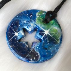 Excited to share the latest addition to my #etsy shop: Galactic necklace. Cosmic space pendant. Star galaxy necklace. Polymer clay necklace. Star, heart cutout peepy necklace