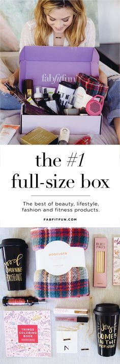 With FabFitFun you only get full size products which is awesome! you can get $10 off your first FabFitFun box with Code SRT10