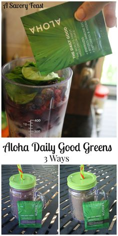 Aloha The Daily Good Greens are a delicious way to add more greens to your diet! Here are three recipes for smoothies and shakes using these healthy packets.