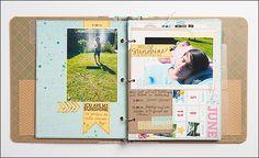 Project Life mit dem Lifebök von DCWV -  gestaltet von Birgit - SCRAP´ inFeACTed