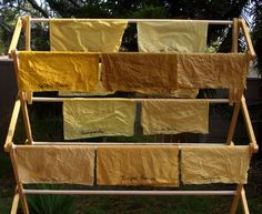 Natural dye tutorial with good recipes for color fixatives.