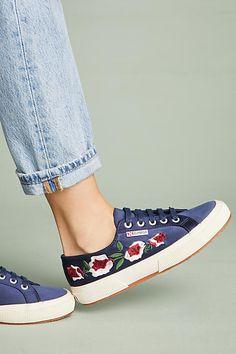 Superga Floral Satin Sneakers