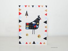 Say hello in the holidays with the winter bird greeting card designed by Susse.