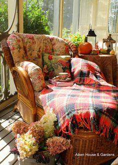 Aiken House & Gardens: A Cosy Autumn Tea on the Cottage porch