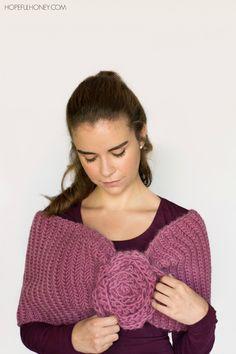 Tea Rose Shawl Crochet Pattern