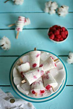 Ricetta - Ghiaccioli al latte di cocco e lamponi | iFood