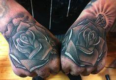 #rose #hand #tattoos