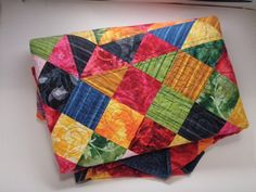 patchwork Child or wheelchair quilt in bright by MooseCarolQuilts, $250.00