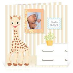 Faire-part naissance Sophie la girafe Ton premier cadre dans le salon… - Cardissime - L'univers du salon de Sophie la girafe. Avez-vous vu le cadre pour insérer la photo de votre bébé ?