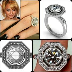 You dream it, we create it. Custom dream ring based off the engagement ring Joel Madden gave to Nicole Richie.