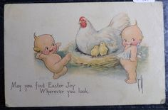 c1913 Kewpie Easter Postcard Artist-Rose O'Neill on Etsy, $37.24 AUD