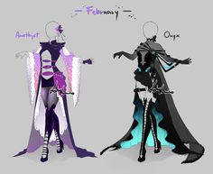 Outfit design-Birthstones -February - closed by LotusLumino on DeviantArt
