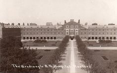 RP Postcard c1920 Royal Naval Hospital Haslar Gosport Hampshire The Quadrangle