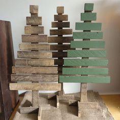 Christmas tree rustic reclaimed tobacco lath wood eco friendly by masonjardecor