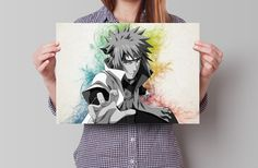 Hey, I found this really awesome Etsy listing at https://www.etsy.com/listing/211739391/minato-naruto-anime-manga-watercolor