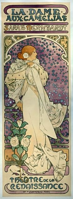 Vintage Poster - Sarah Bernhardt. Not exactly opera, but close enough #verdi #traviata #latraviata