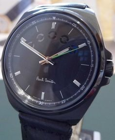 """Paul Smith - Limited Edition """"Five Eyes"""" (Black Dial & Leather Strap)"""