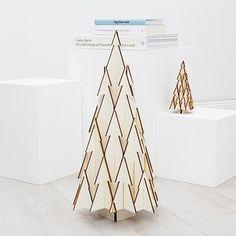 50 cm Holz-Weihnachtsbaum aus Birkenholz von Jeroen Boon