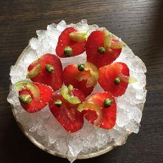 Strawberries marinaded in vodka Rene Redzepi