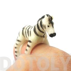 Zebra Horse Figurine Shaped Animal Wrap Ring for Kids Horse Jewelry, Animal Jewelry, My Little Girl, Little Ones, Zebras, Ring Designs, Tigger, Dc Comics, Super Cute