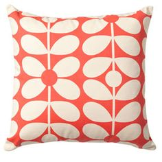Sixties Stem Cushion Red