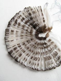Fabric Manipulation - pleated & dyed fabric inspired by organic patterns & textures; textiles design // tinctory
