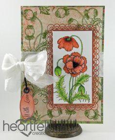 Heartfelt Creations   Blazing Poppy Stems With Love