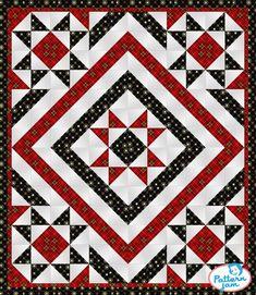 Sewing Block Quilts PatternJam - FREE Online Quilt Pattern Designer - Plaid Tidings - custom quilt designed by using PatternJam quilt design software Big Block Quilts, Star Quilt Blocks, Star Quilt Patterns, Blue Quilts, Star Quilts, Easy Quilts, Patchwork Patterns, Flag Quilt, Patriotic Quilts
