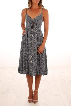By The River Dress Navy
