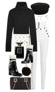 """Untitled #9583"" by nikka-phillips ❤ liked on Polyvore featuring Chanel, ASOS Curve, Ray-Ban, Étoile Isabel Marant, See by Chloé, Isabel Marant, Michael Kors and Armitage Avenue"