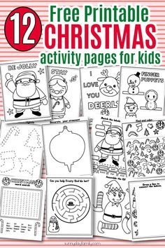 12 Free Printable Christmas Activity Pages For Kids