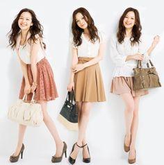 森絵梨香 Japanese Beauty, Japanese Fashion, Skater Skirt, Midi Skirt, Japanese Models, Covergirl, Erika, Actors & Actresses, Fashion Models