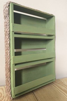 Rustic Olive Green Spice Rack by RosieRustic on Etsy