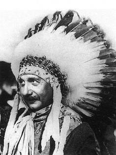 Einstein in Native American headdress