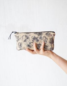 Makeup pouches. Modern floral zipper pouches. Cosmetic bags. Pencil cases. Brush holders. Women fashion accessories. Etsy Handmade. Cute gift idea. Bridesmaid gift