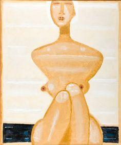 Jerzy Nowosielski, Akt na plaży, 1993