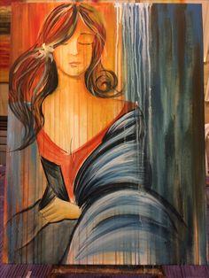 Acrílico 60 x 80 cm Inspirado en el arte d Gabriela López Mensaque
