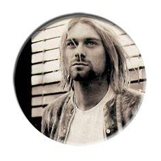 ONLY ONE Kurt Cobain Nirvana 2-1/4 Inch Button