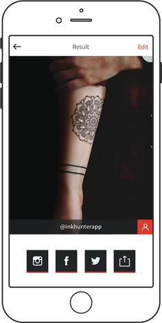 Ink Hunter app lets you visualize and edit your tattoo before you commit. Create your own or choose from an image library. #Apr2016