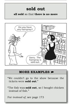 sold out Say it better in English #Useful_phrase #English #better #تعلم_الانكليزية_معنا