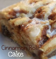 Cinnamon Roll Cake - MMM! Boy, was it GOOD! It just melts in your mouth! YUM! This would make a fabulous breakfast or a tasty treat!