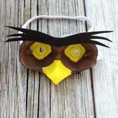 bricolage avec carton d'oeufs, masque à partir d'emballage d'oeufs