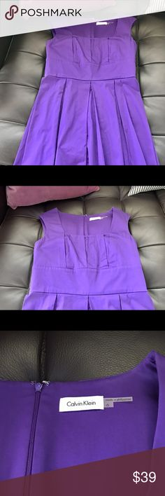 CK A-line Dress Purple pleated a-line dress. Only worn once. Great for work or an event! Smoke free home. Calvin Klein Dresses