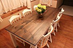Build your own farmhouse table for less than $300!    via AttemptsAtDomestication