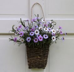 Country Primitive Floral wall basket door wreath by nyflowerchic, $32.00
